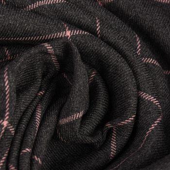 Bekleidungsstoff Karostoff Gitter Vierecke grau rosa 1,45m Breite – Bild 2