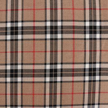 Bekleidungsstoff Karostoff Schottenkaro kariert braun rot  weiß schwarz 1,45m Breite – Bild 2