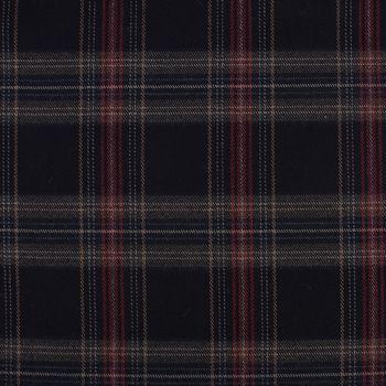Bekleidungsstoff Karostoff Schottenkaro kariert dunkelblau rot braun 1,45m Breite – Bild 2