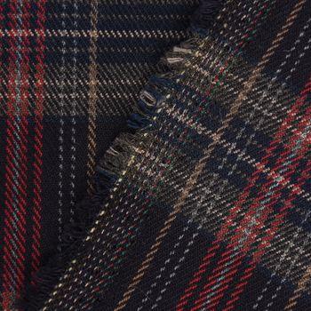 Bekleidungsstoff Karostoff Schottenkaro kariert dunkelblau rot braun 1,45m Breite – Bild 3