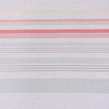 Dekostoff Meterware MARULA Stores weiß mit verschiedenen Querstreifen grau rosa halbtransparent 1,48m Breite  – Bild 5