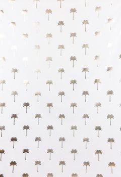 Dekostoff Palmen weiß goldfarbig metallic 1,40m Breite – Bild 6