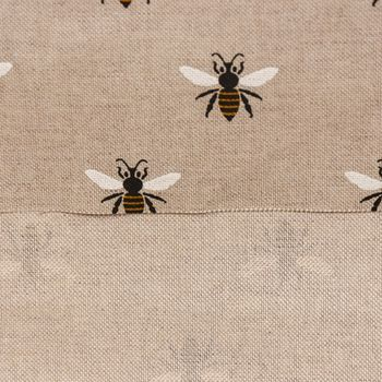 Gardinenstoff Dekostoff Biene natur gelb schwarz weiß 1,40m Breite – Bild 4