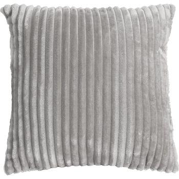 Velourskissen Kuschelkissen Cordoptik Linen  & More Alanya grau 45x45cm – Bild 7