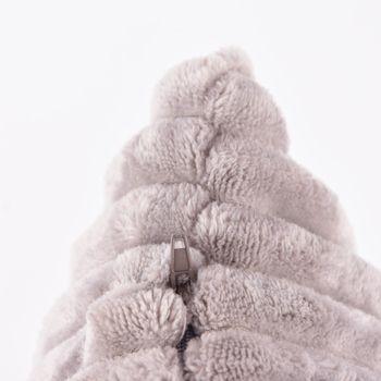 Velourskissen Kuschelkissen Cordoptik Linen  & More Alanya grau 45x45cm – Bild 3