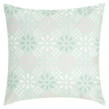 Outdoor Garten Kissen Daisy Flower mint mit Blumenmuster rosa grau weiß 45x45cm – Bild 8