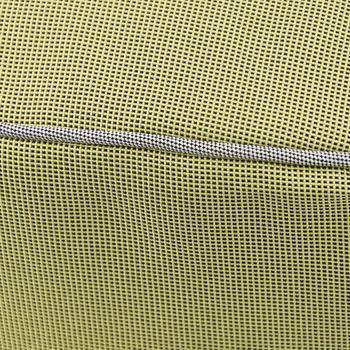 Outdoor Pouf Sitzkissen Struktur grün Ø 55x25cm – Bild 3