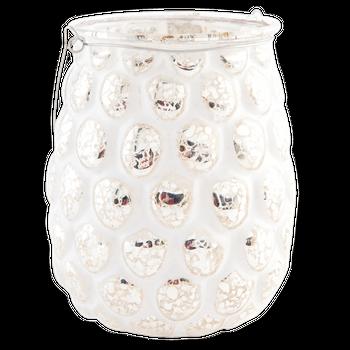 Clayre & Eef Windlicht Teelichthalter Mirrorsplash weiß mit goldfarbigem Akzent – Bild 8