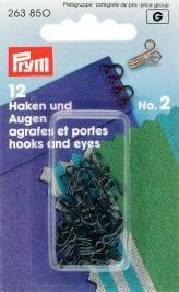 Prym 12 Federhaken und Augen MS2 schwarz