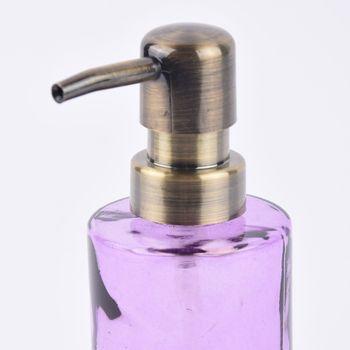 Clayre & Eef Seifenspender Schmetterling transparent violett Ø7x18cm – Bild 2