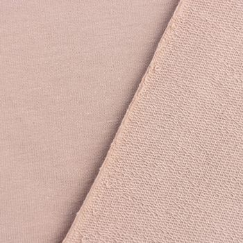 Bio French Terry Organic Sommersweat einfarbig taupe 1,5m Breite – Bild 3