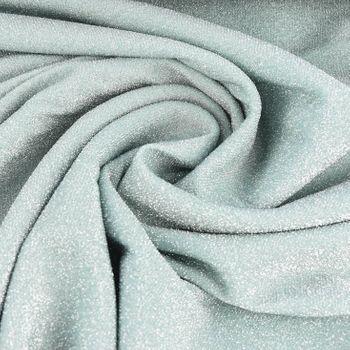 Bekleidungsstoff Polyester Glitzer mint silberfarbig 1,60m Breite – Bild 1