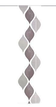 Schiebevorhang Flächenvorhang Flächenschal Paneel Scherli Effektvoile weiche Raute grau 60x245cm – Bild 7