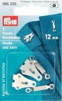 Prym 2 Hosenhaken Haken Stege silberfarbig 12mm 001