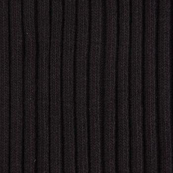 Strickschlauch Bündchenstoff Strick grob schwarz 37cm Breite – Bild 1