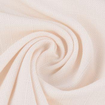 Gardinenstoff Universalstoff Dekostoff Strukturstoff einfarbig creme 1,48m Breite – Bild 1