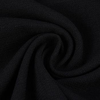 Gardinenstoff Universalstoff Dekostoff Strukturstoff einfarbig schwarz 1,48m Breite – Bild 1