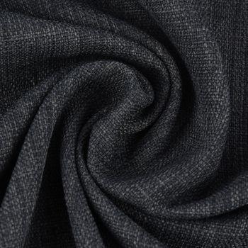 Gardinenstoff Universalstoff Dekostoff Strukturstoff einfarbig dunkelgrau 1,48m Breite – Bild 1