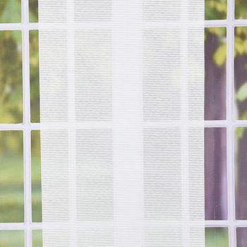 Rollo Stoffrollo Kettenzugrollo Klemmrollo Streifenoptik wollweiß 40x140cm – Bild 1