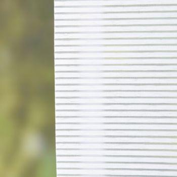 Rollo Stoffrollo Kettenzugrollo Klemmrollo Streifenoptik wollweiß 40x140cm – Bild 2