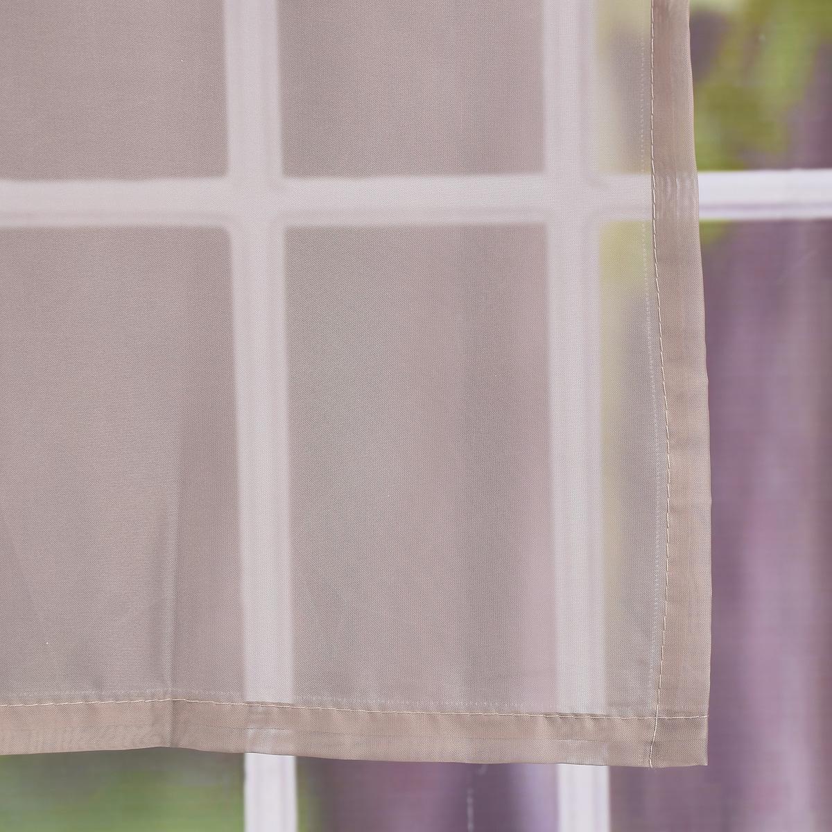 schlaufenschal schlaufenvorhang fertiggardine uni voile. Black Bedroom Furniture Sets. Home Design Ideas