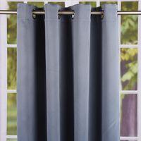 Ösenschal Fertiggardine Verdunkelung Firmament blaugrau 140x245cm 001