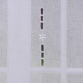 Türbehang Scheibengardine Fertiggardine Leinenstruktur Makramee weiß 60x180cm – Bild 7