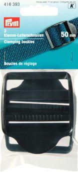 Prym 2 Klemmschnalle Leiterschnalle 50mm schwarz