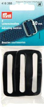 Prym 2 Leiterschnalle schwarz Kunststoff 50mm