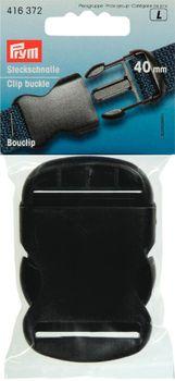 Prym Steckschnalle Schnalle schwarz 40 mm
