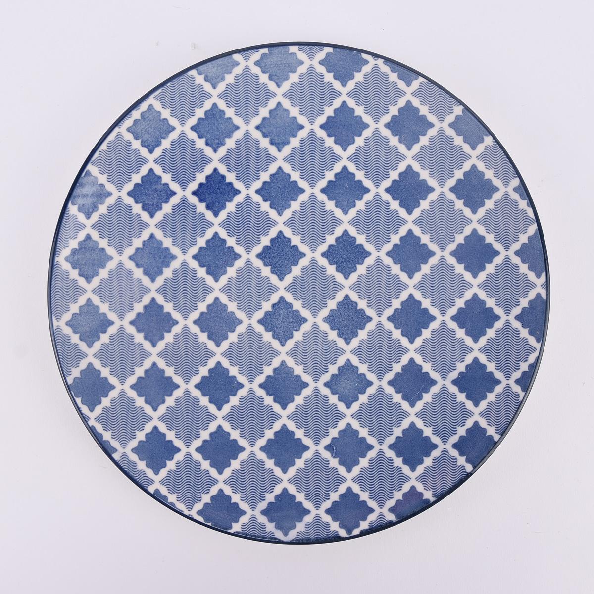Mix and Match Teller Keramik weiß blau grün Ø21cm