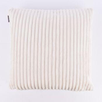 Velourskissen Kuschelkissen Cordoptik Linen  & More Alanya weiß 45x45cm – Bild 3