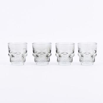 Temerity Jones 4 Stück Skull Shot Gläser Schnapsgläser – Bild 1