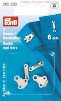 Prym 2 Hosenhaken und Stege ST silberfarbig 6mm 001