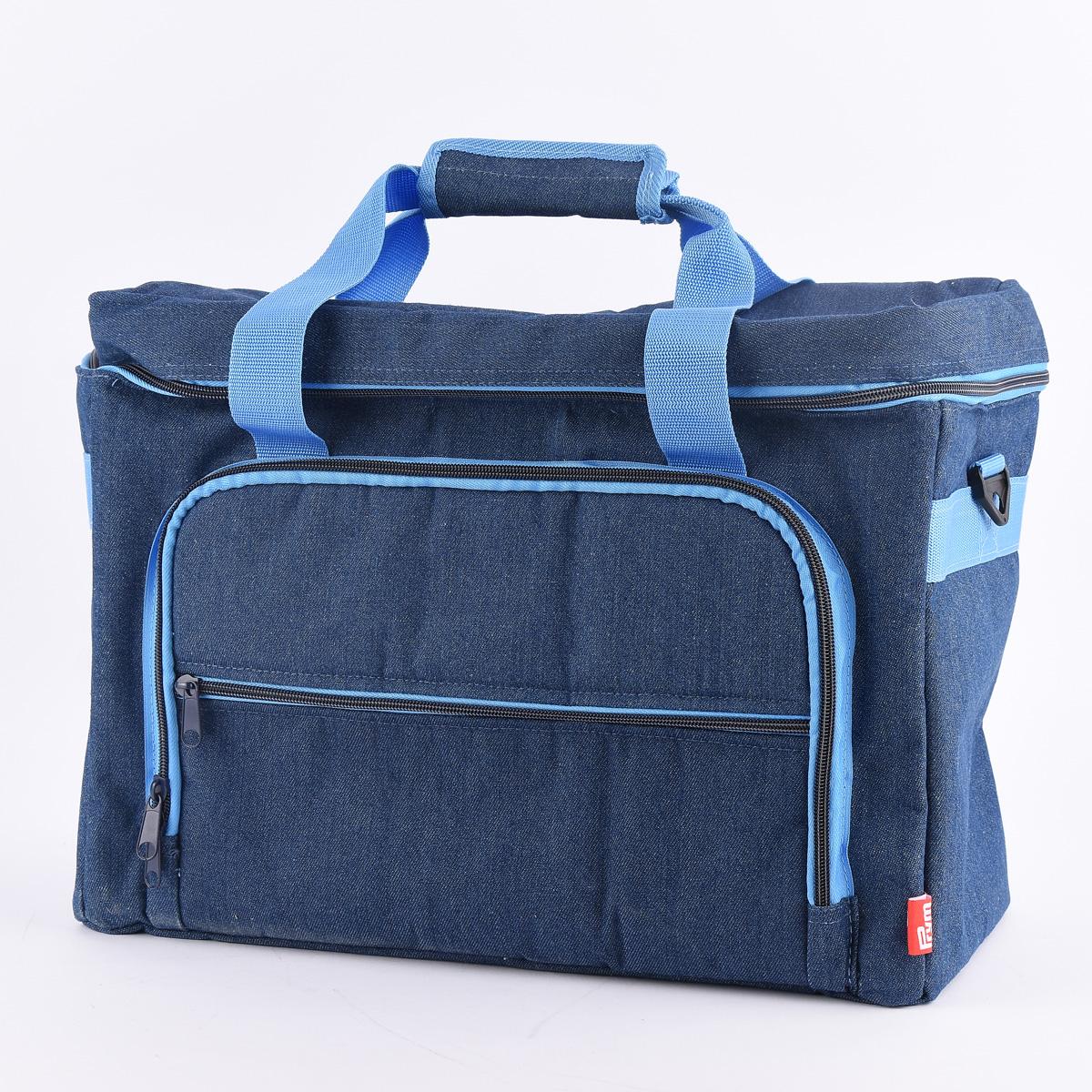 Prym Nähmaschinen Tasche Jeans blau 44x20x35cm