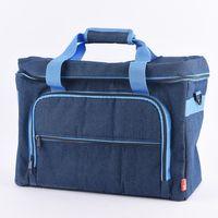 Prym Nähmaschinen Tasche Jeans blau 44x20x35cm 001