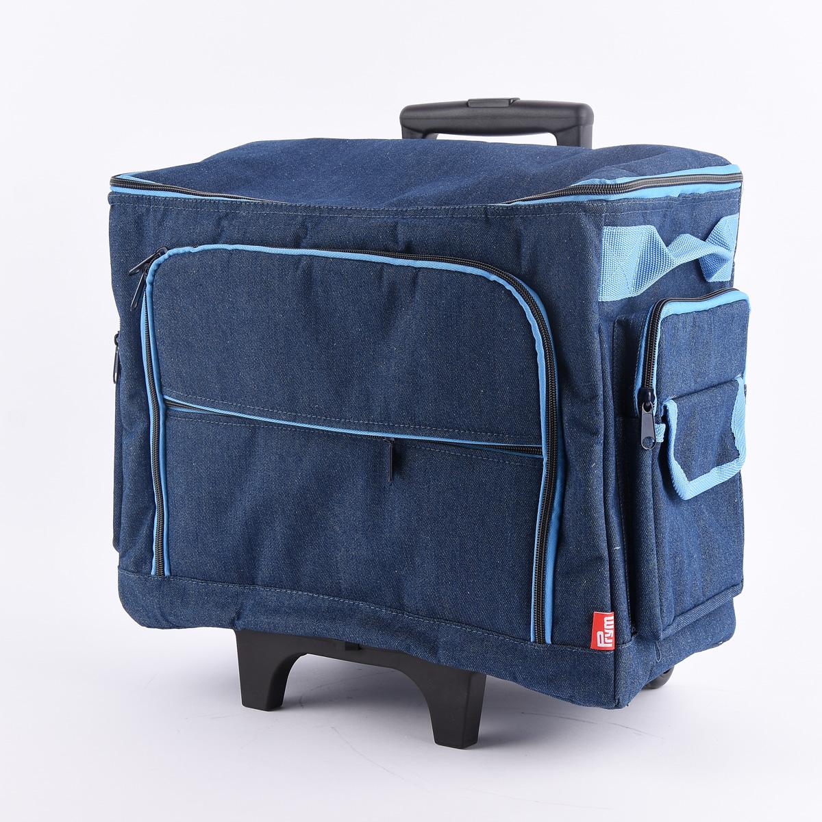 Prym Nähmaschinen Trolley Tasche Jeans blau 44x22x36cm