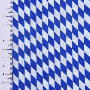 Baumwollstoff Bayernraute Bayrisch Raute blau weiß 1,4m Breite – Bild 4