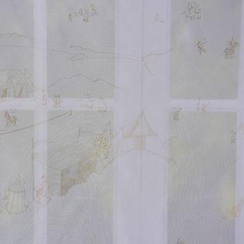Villa Coppenrath Ritter Vincelot Gardinenstoff Voile Vincelots Welt beige 280cm – Bild 7