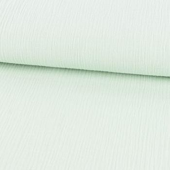 Bekleidungsstoff Double Gauze Musselin Windelstoff einfarbig hell mint – Bild 3