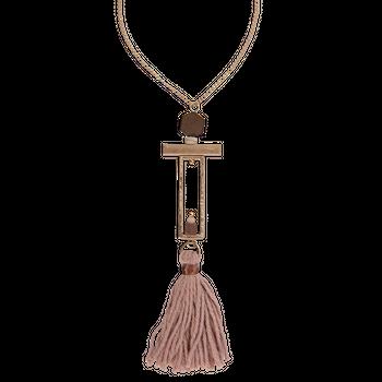 Clayre & Eef Juleeze Halskette Sanna goldfarbig mit Quaste 47cm – Bild 1