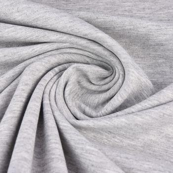 Viskosejersey Jerseystoff Punta di Roma einfarbig grau 1,4m Breite – Bild 1