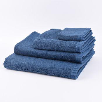 Frottee Handtuch Duschtuch Gästetuch dunkelblau – Bild 1