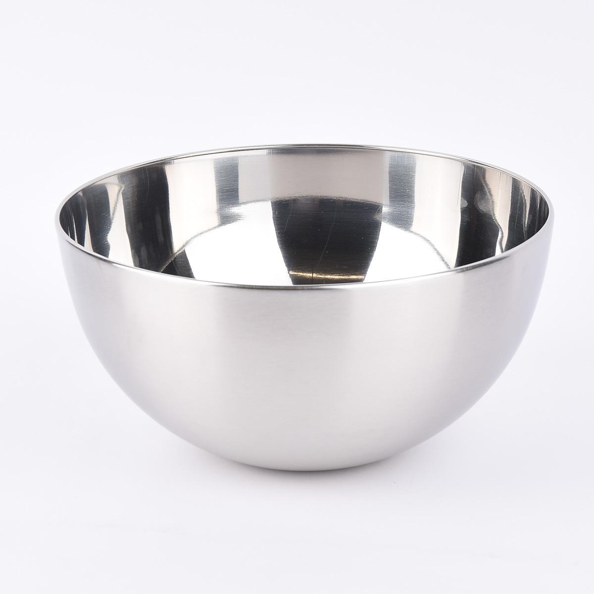 Schale Metall Edelstahloptik silberfarbig 23,5x12cm