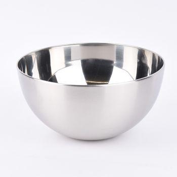 Schale Metall Edelstahloptik silberfarbig 23,5x12cm – Bild 1