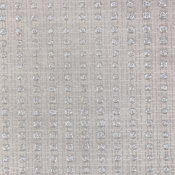 Kunstleder Glitzer-Kunstleder Stoff Abschnitt Diamond grau silberfarbig Glitzer 50x68cm – Bild 2
