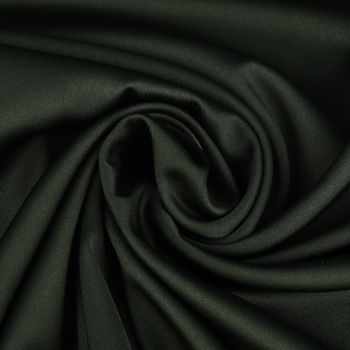 Royal Micro Satin Stoff Meterware dunkelgrün 1,45m Breite