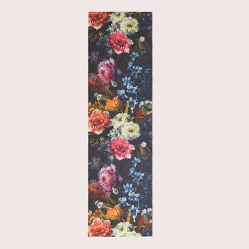 Baumwollstoff Stoff Dekostoff Digitaldruck Blumen dunkel bunt 1,40m Breite – Bild 9