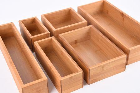 Aufbewahrungsbox Kiste Bambus 15x15x7cm – Bild 6