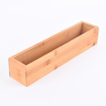 Aufbewahrungsbox Kiste Bambus 38x8x7cm – Bild 1